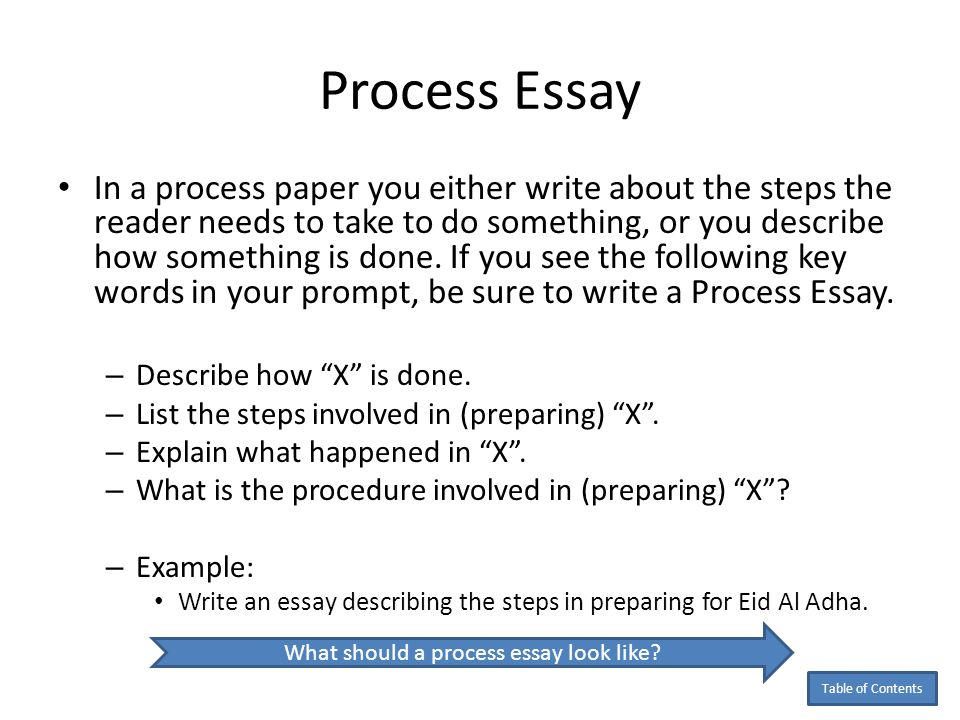 proccess essay