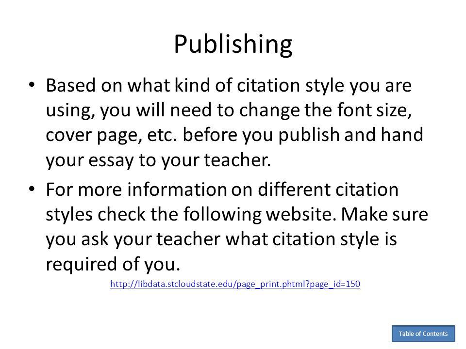 Cite essay apa formatting