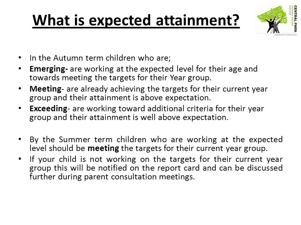What is expected attainment.