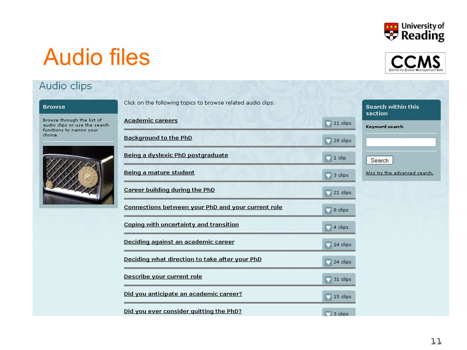 Audio files 11