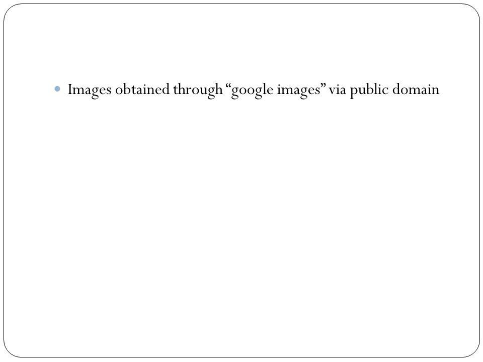 Images obtained through google images via public domain