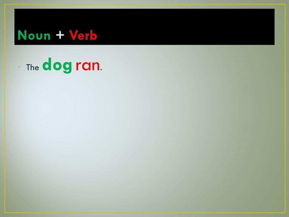 The dog ran.