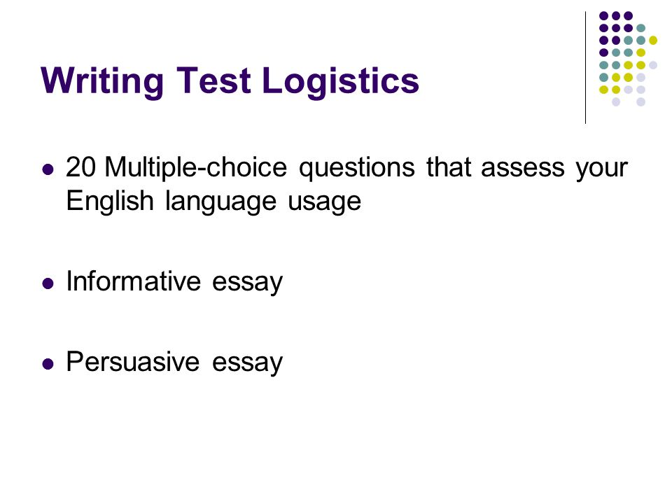 ANSWERING MULTIPLE- CHOICE QUESTIONS Formulate your own answer before reading the options.