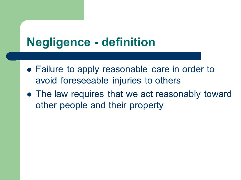 Damage Claimants must have suffered damage from the negligent act Physical damage Economic damage or both