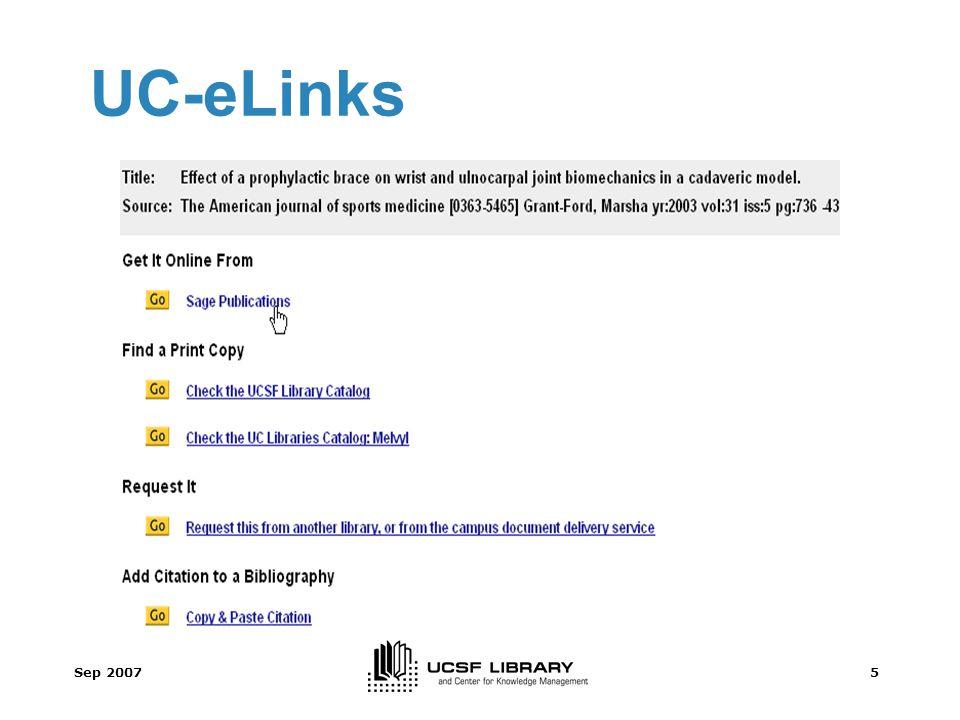 Sep 20075 UC-eLinks