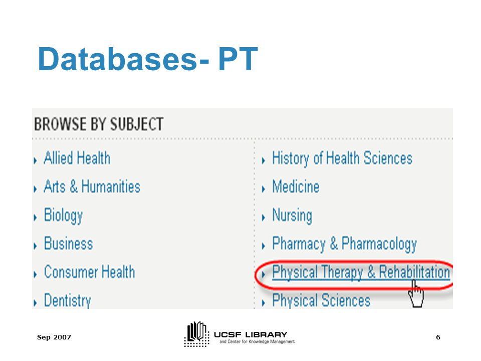 Sep 20076 Databases- PT