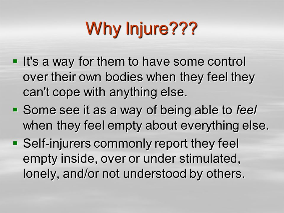 Why Injure??.