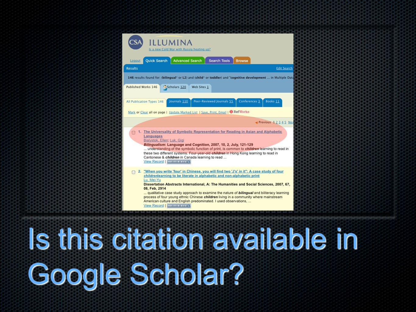 Is this citation available in Google Scholar