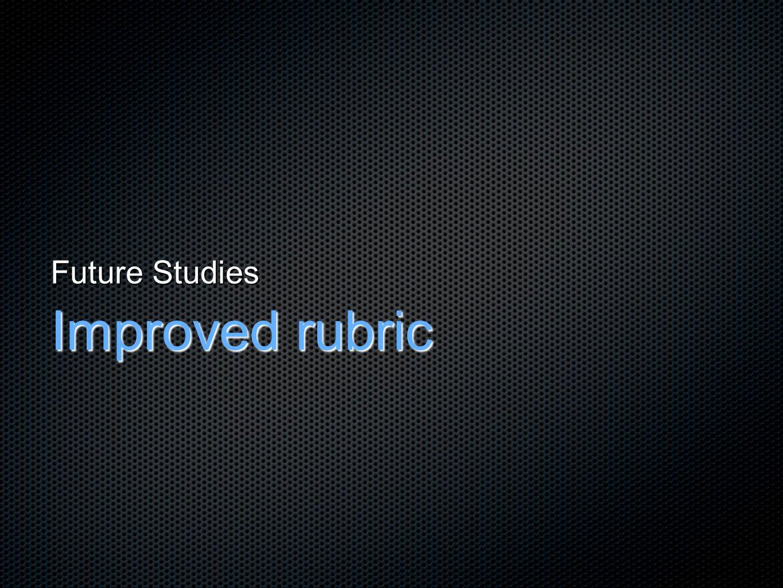 Future Studies Improved rubric