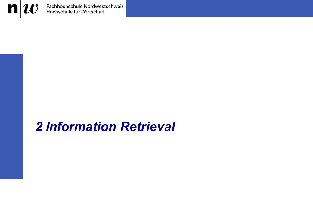2 Information Retrieval