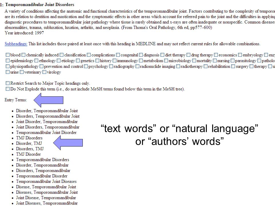 """""""text words"""" or """"natural language"""" or """"authors' words"""""""