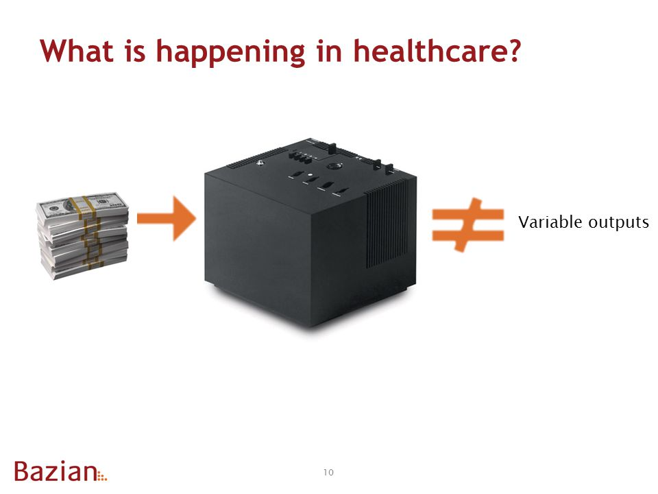 What is happening in healthcare 10 Variable outputs