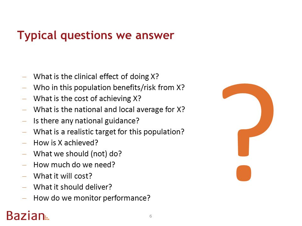 5.What are the results.  How are the results presented.