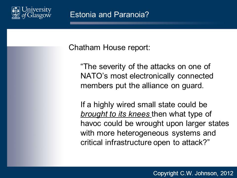 Estonia and Paranoia.