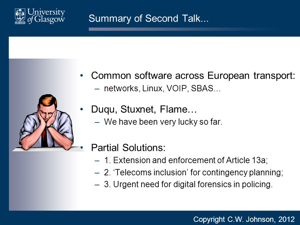 Summary of Second Talk...