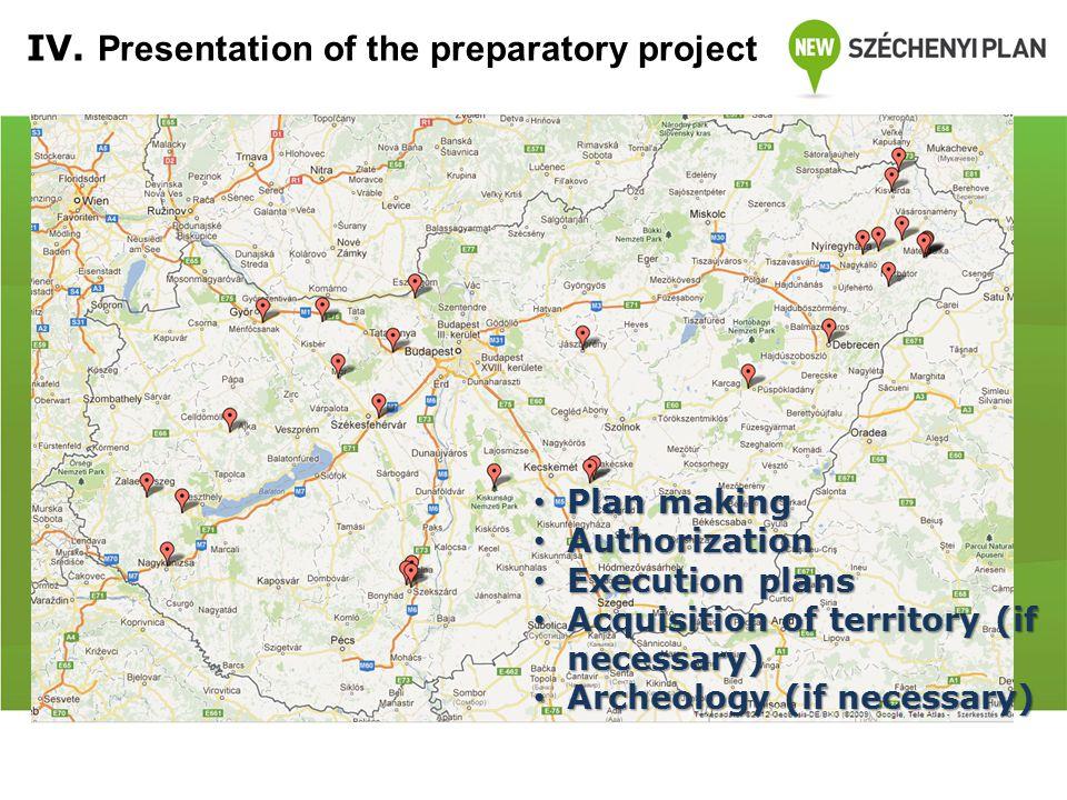 Fejlesztésre javasolt helyszínek IV.