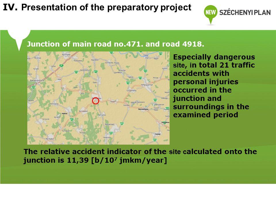 Junction of main road no.471. and road no. 4918.