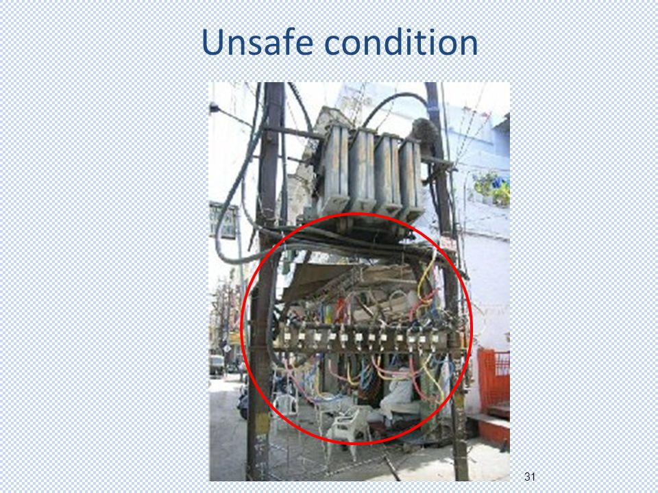 31 Unsafe condition