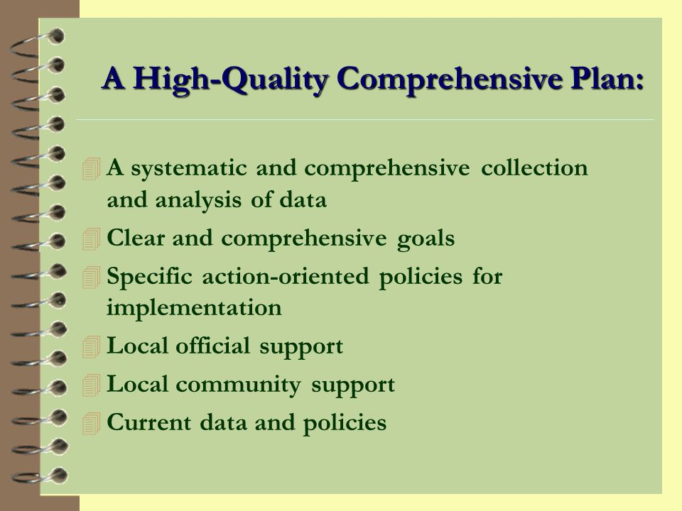 What is a Comprehensive Plan.