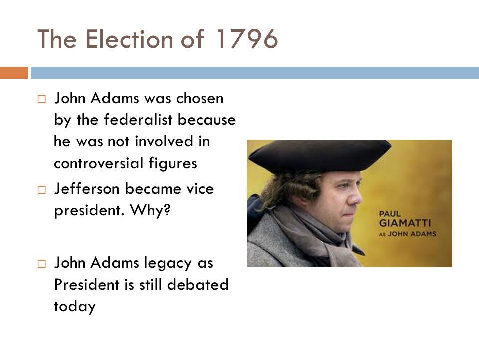 FROM JOHN ADAMS TO THOMAS JEFFERSON POLITICAL TURMOIL NEW NATIONAL CULTURE
