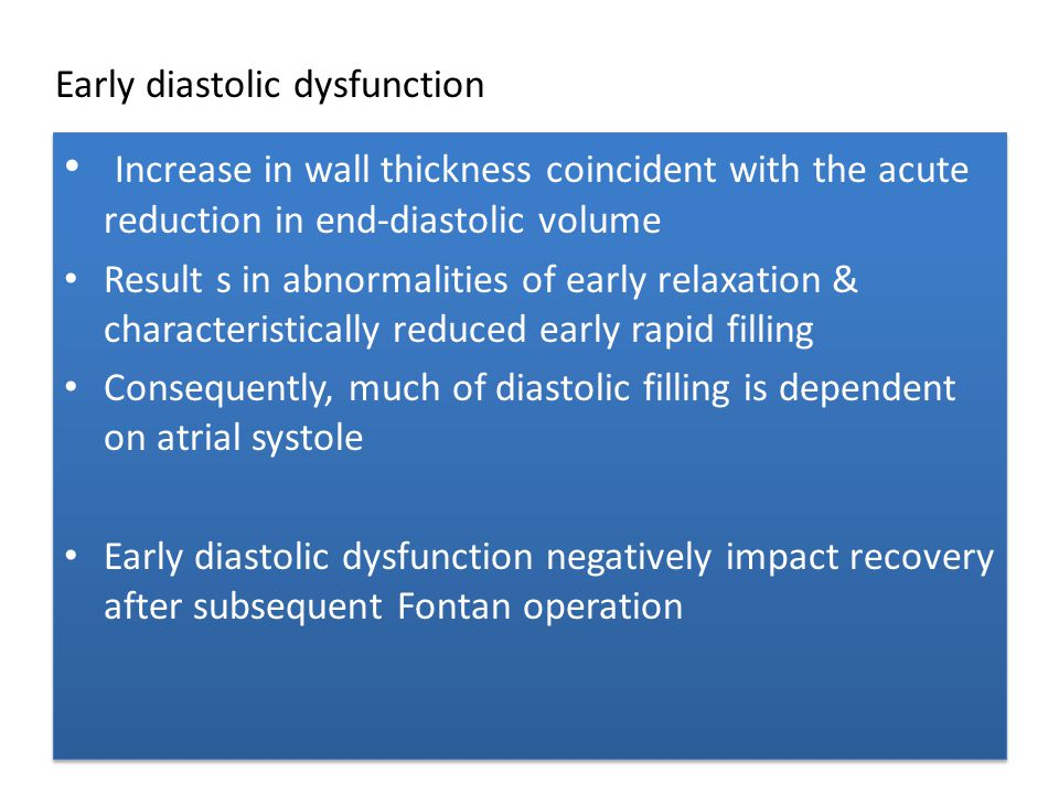 Increase in wall thickness coincident with the acute reduction in end-diastolic volume Result s in abnormalities of early relaxation & characteristica
