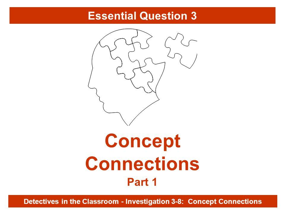 Investigation 3-8 Concept Connections Part 1 Detectives in the Classroom - Investigation 3-8: Concept Connections Essential Question 3