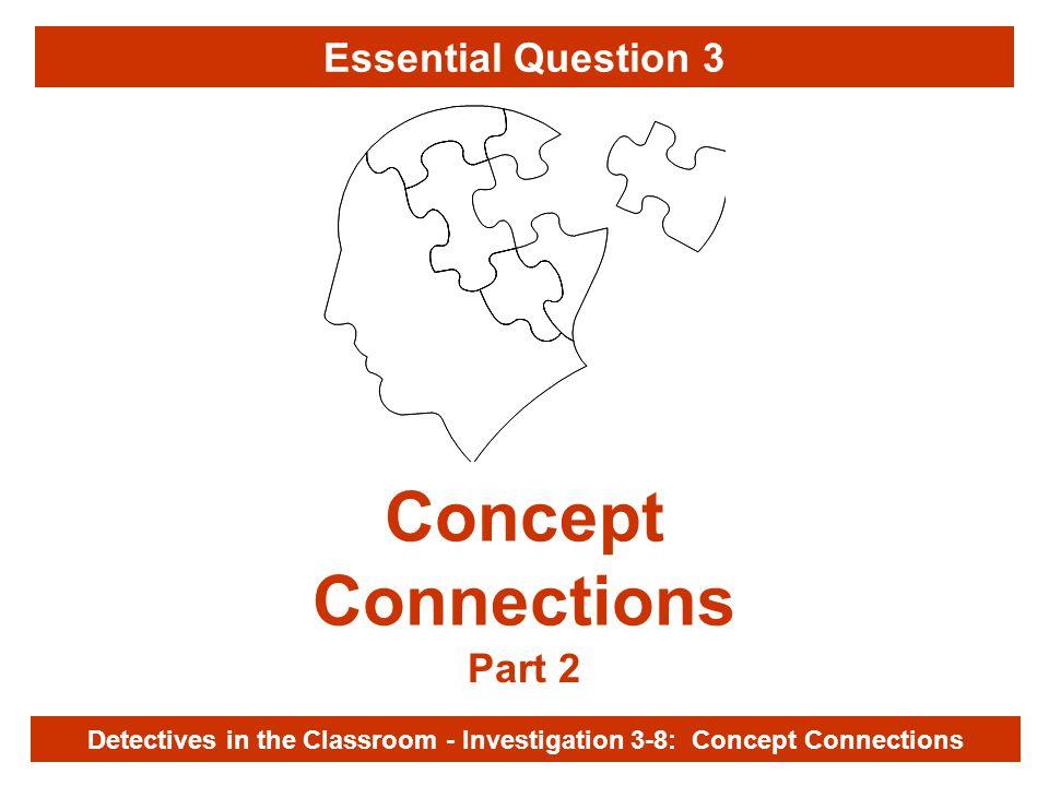 Investigation 3-8 Concept Connections Part 2 Detectives in the Classroom - Investigation 3-8: Concept Connections Essential Question 3
