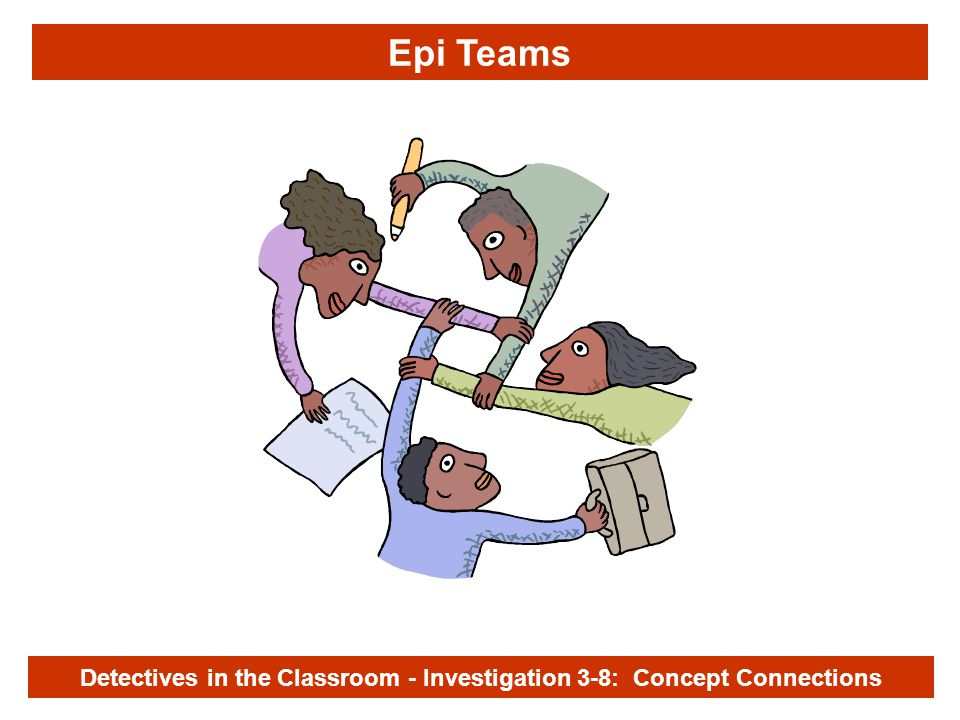 Investigation 3-8 Epi Teams Detectives in the Classroom - Investigation 3-8: Concept Connections