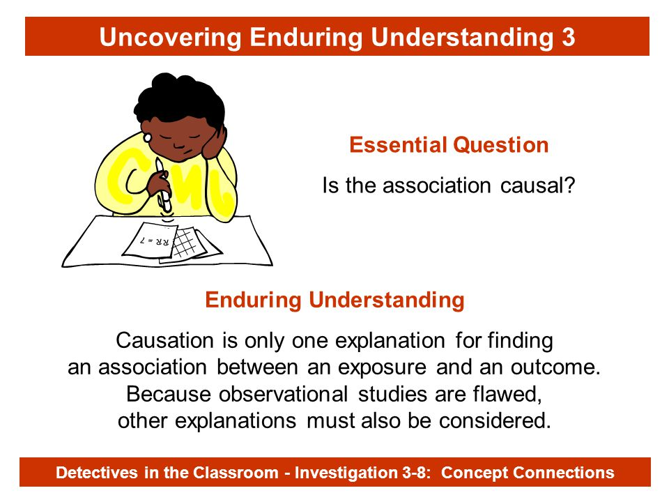 Investigation 3-8 Uncovering Enduring Understanding 3 Essential Question Is the association causal.