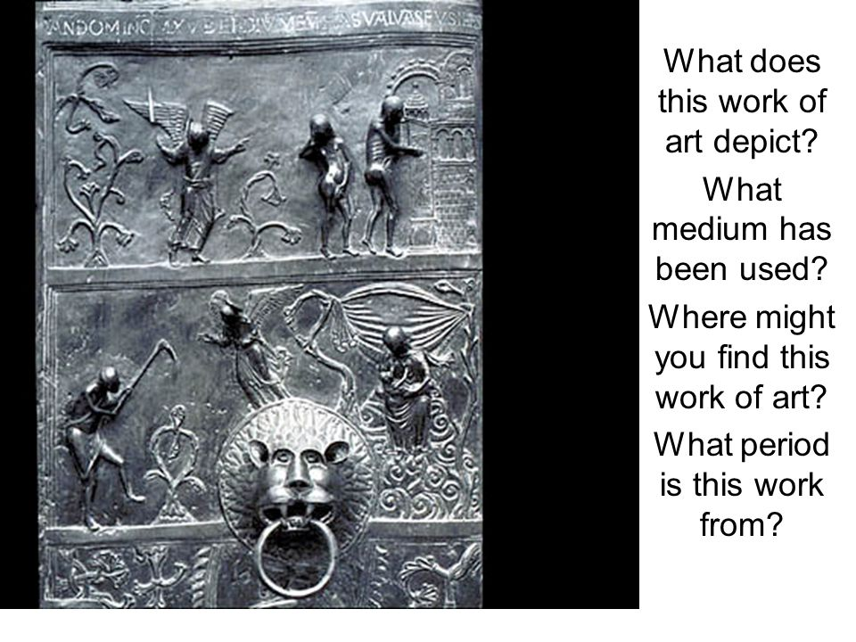 What does this work of art depict. What medium has been used.