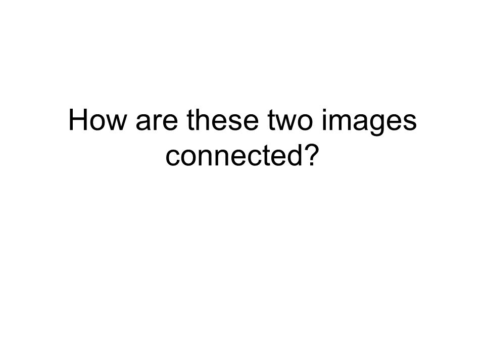How are these two images connected?