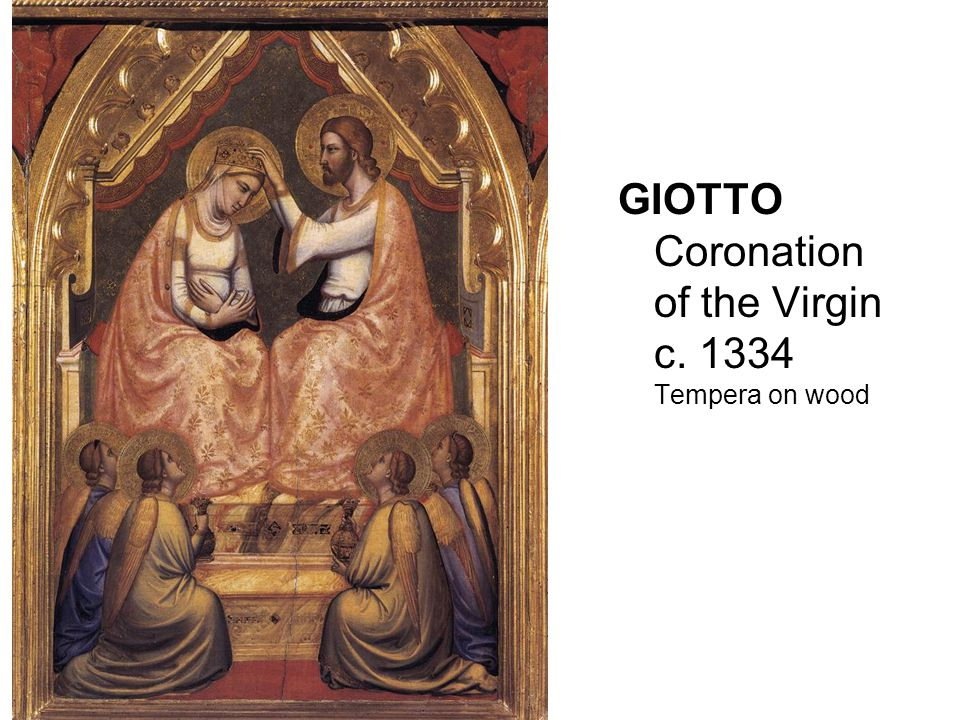 GIOTTO Coronation of the Virgin c. 1334 Tempera on wood