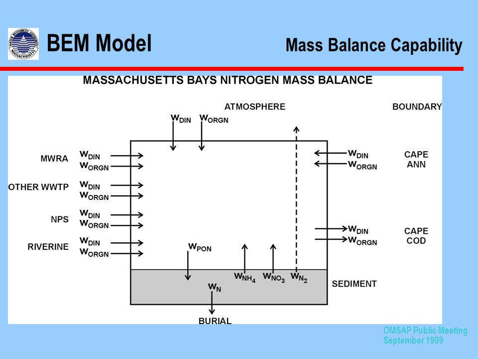 OMSAP Public Meeting September 1999 BEM Model Mass Balance Capability