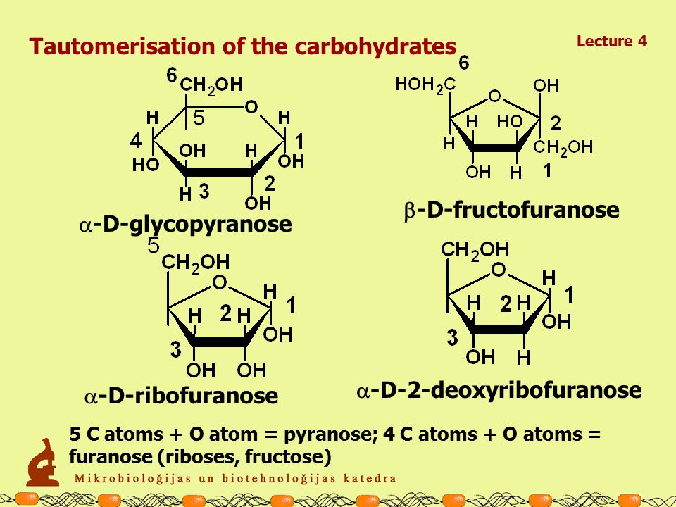 D - glucose  -D-glycopyranose  -D-glycopyranose Tautomerisation of the carbohydrates Lecture 4
