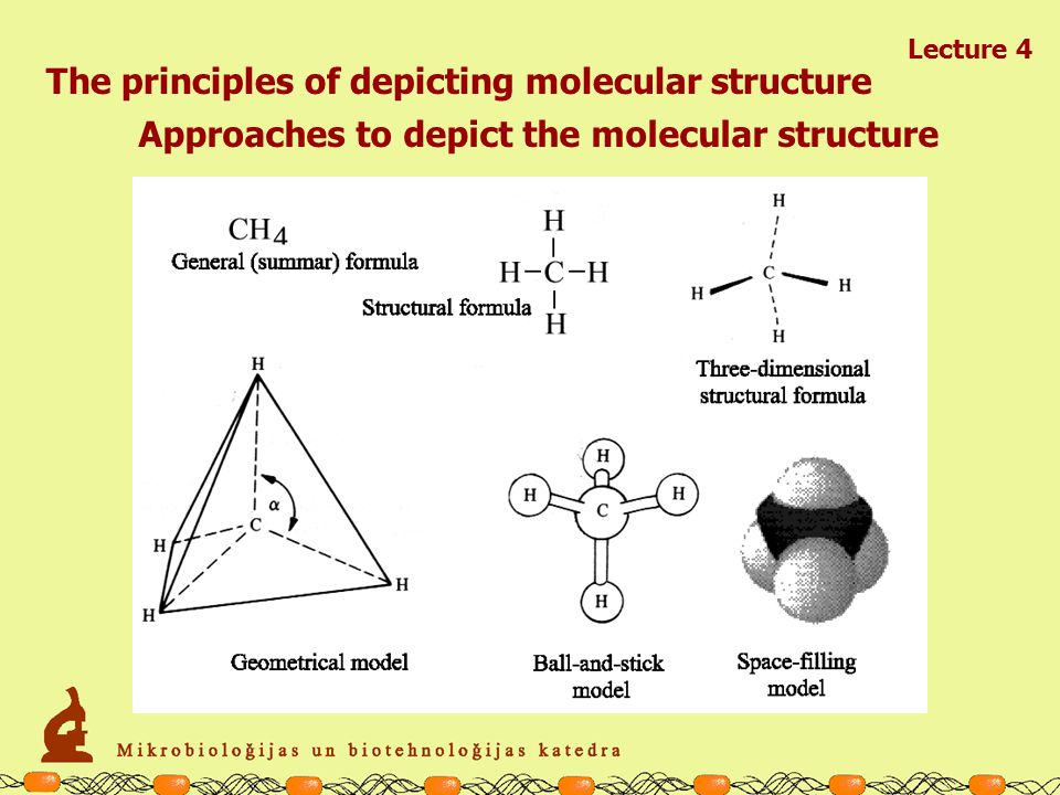 Lecture 4 The principles of depicting molecular structure