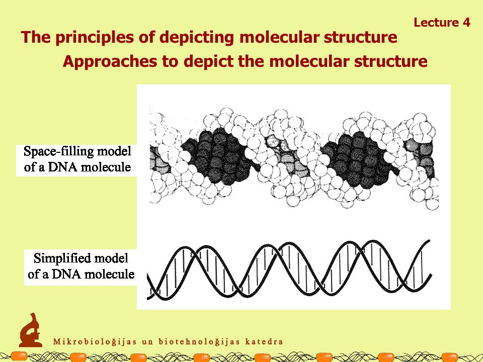 Lecture 4 The principles of depicting molecular structure Approaches to depict the molecular structure