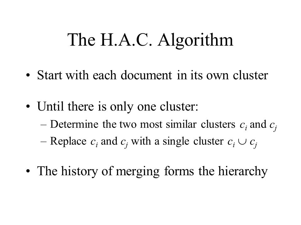 The H.A.C.