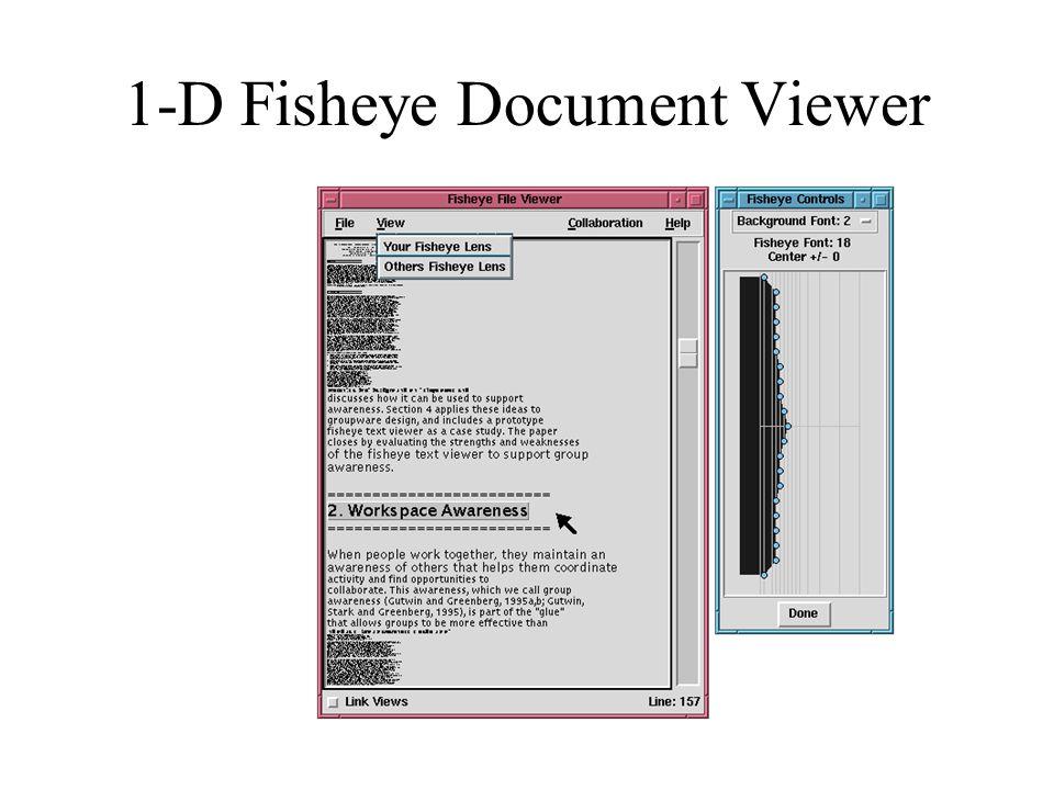 1-D Fisheye Document Viewer