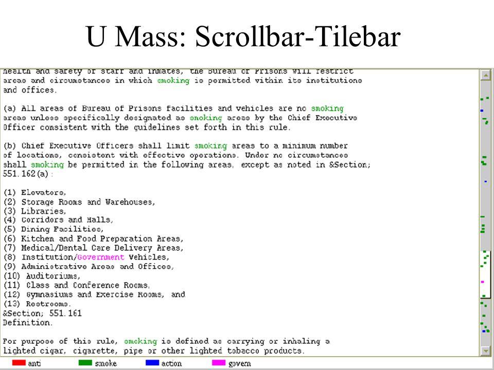 U Mass: Scrollbar-Tilebar