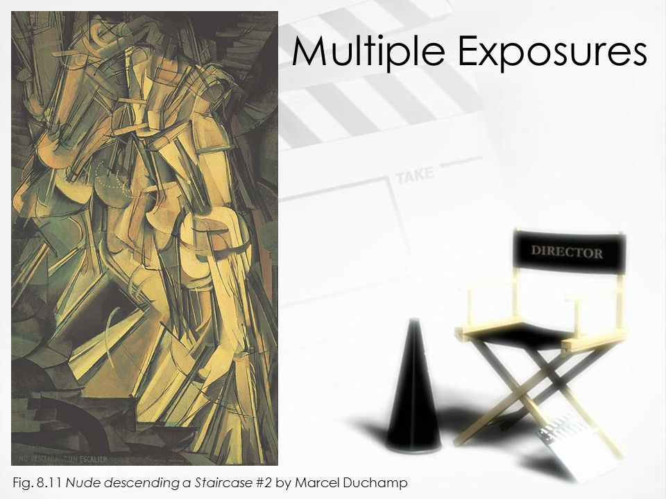 Multiple Exposures Fig. 8.11 Nude descending a Staircase #2 by Marcel Duchamp
