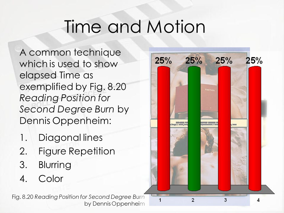 Time and Motion 1.Diagonal lines 2.Figure Repetition 3.Blurring 4.Color 1.Diagonal lines 2.Figure Repetition 3.Blurring 4.Color Fig. 8.20 Reading Posi
