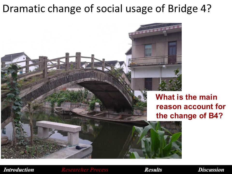 Dramatic change of social usage of Bridge 4. What is the main reason account for the change of B4.