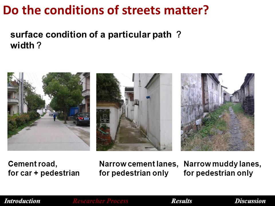 Do the conditions of streets matter.