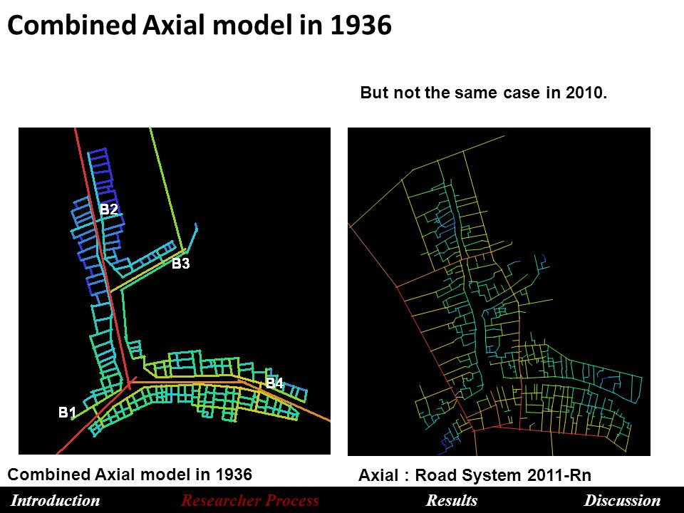 Combined Axial model in 1936 Axial : Road System 2011-Rn But not the same case in 2010.