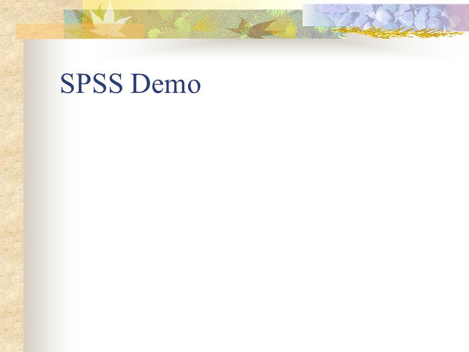 SPSS Demo
