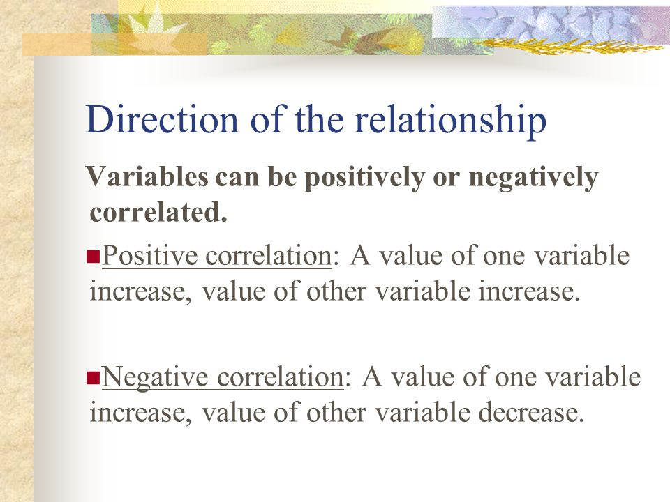 Some consideration in interpreting correlation 1.Correlation represents a linear relations.