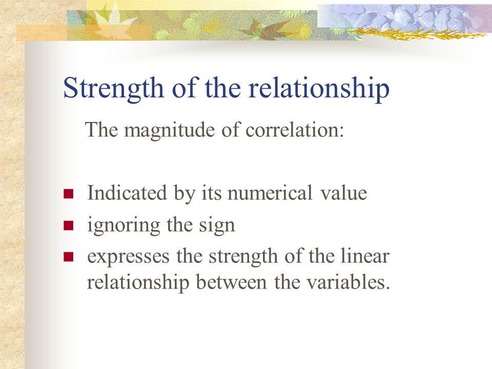 Some consideration in interpreting correlation 3.