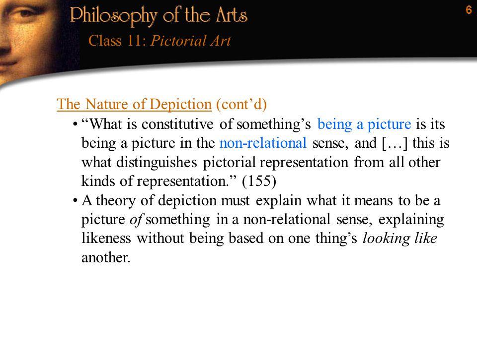 7 Depiction Is Not Looking Like Class 11: Pictorial Art If A looks like B, then B looks like A.