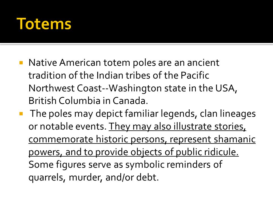  The following are general references of Totem Pole symbols.