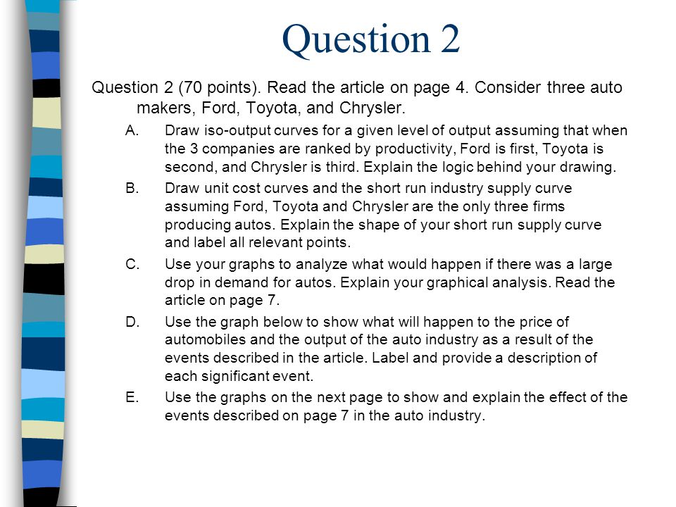 Question 2 Question 2 (70 points). Read the article on page 4.